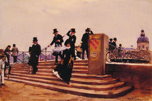 Jean Georges Béraud - Pont des Arts (also known as Windy day)