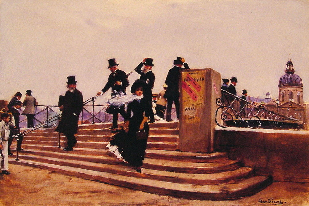 Pont des Arts (also known as Windy day), 1880 by Jean Georges Béraud (1849-1936, France)