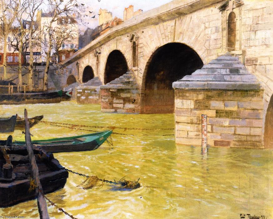 The Pont Marie, Paris, 1893 by Frits Thaulow (1847-1906, Norway) | Painting Copy | WahooArt.com
