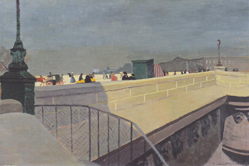 The Pont Neuf, 1901 by Felix Vallotton (1865-1925, Switzerland)