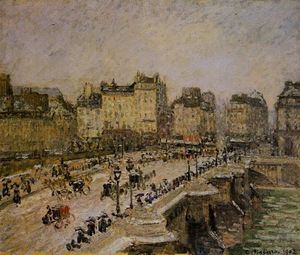 Camille Pissarro - The Pont-Neuf: Snow