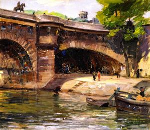 Joseph Kleitsch - Pont Neuf with Statue of Henry IV, Paris