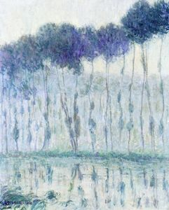 Gustave Loiseau - Poplars on the Banks of the Eure
