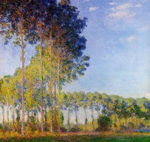 Claude Monet - Poplars on the Banks of the River Epte, Seen from the Marsh