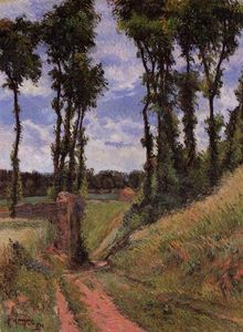 Paul Gauguin - Poplars, Osny (also known as Poplar-Lines Lane, Osny)