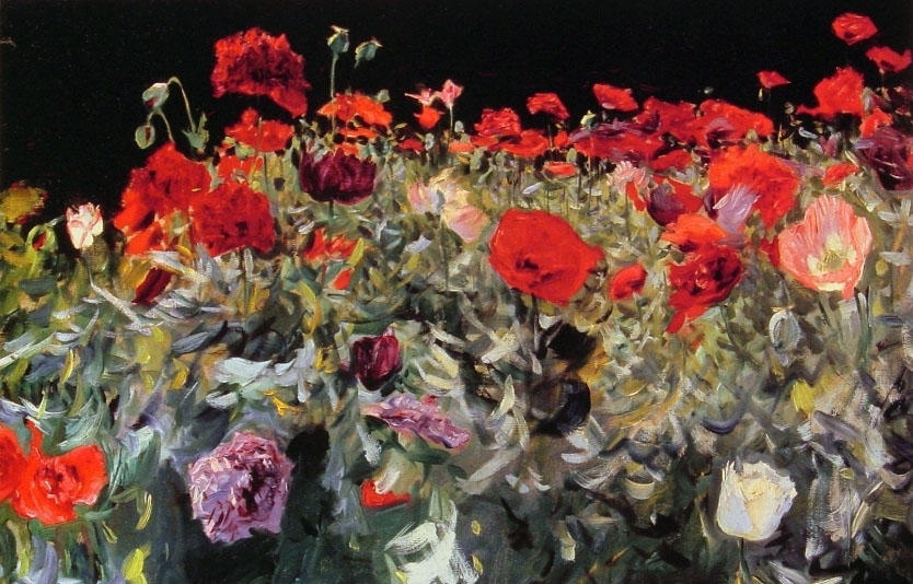 Poppies, 1886 by John Singer Sargent (1856-1925, Italy) | Famous Paintings Reproductions | WahooArt.com
