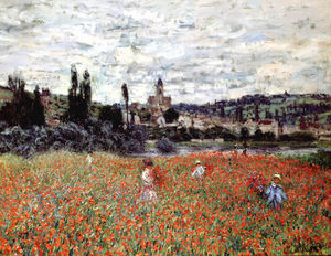 Claude Monet - Poppies near Vetheuil