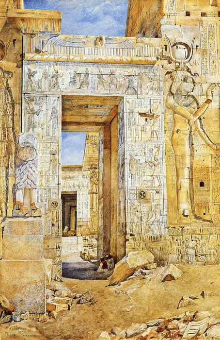 Portal of Nectanebus, Philae, 1894 by Henry Roderick Newman (1833-1918, United States) | Oil Painting | WahooArt.com