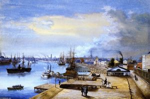 Marie Adrien Persac - Port and City of New Orleans