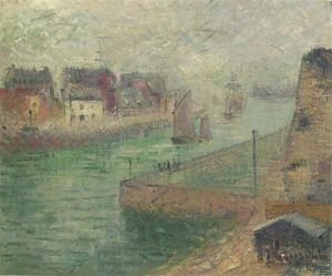 Gustave Loiseau - Port at Dieppe in Fog