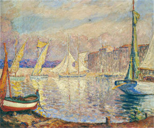 Henri Lebasque - The Port at St Tropez