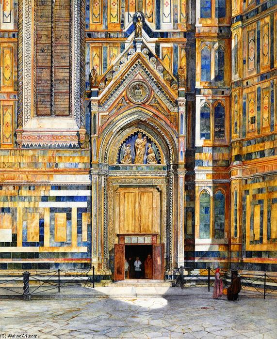 Porta dei Canonici, Duomo, Florence, Watercolour by Henry Roderick Newman (1833-1918, United States)