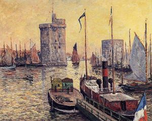 Maxime Emile Louis Maufra - The Port of La Rochelle at Twilight