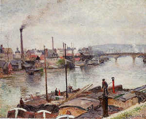 Camille Pissarro - The Port of Rouen 2
