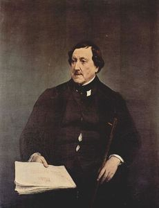 Francesco Hayez - Portrait, Giacomo Rossini