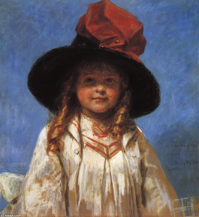 Portrait of Agnes, Drawing by Henry Mosler (1841-1920, Poland)