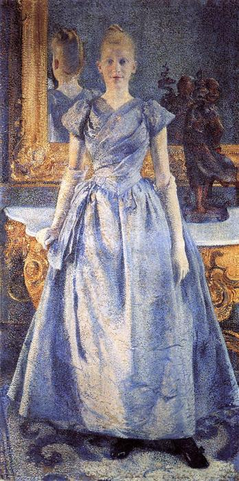 Portrait of Alice Sethe, Oil On Canvas by Theo Van Rysselberghe  (order Fine Art oil painting Theo Van Rysselberghe)
