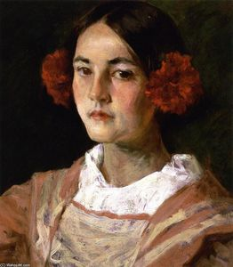 William Merritt Chase - Portrait of the Artist's Daughter, Alice (also known as Gitana)