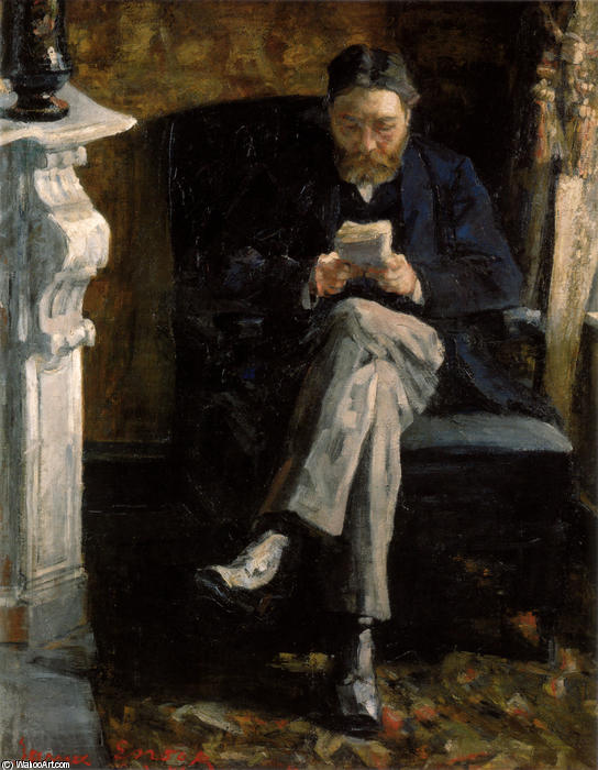 Portrait of the Artist's Father, Oil On Canvas by James Ensor (1860-1949, Belgium)