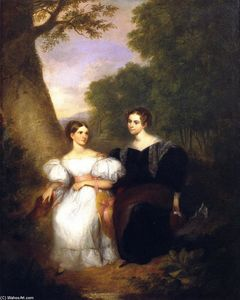 Asher Brown Durand - Portrait of the Artist's Wife and Her Sister