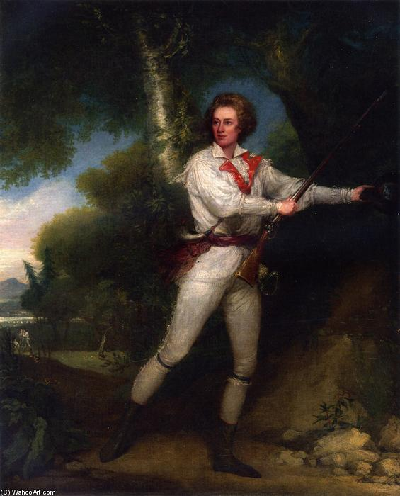 Portrait of Captain Samuel Blodget in Rifle Dress, Oil On Canvas by John Trumbull (1756-1843, United Kingdom)