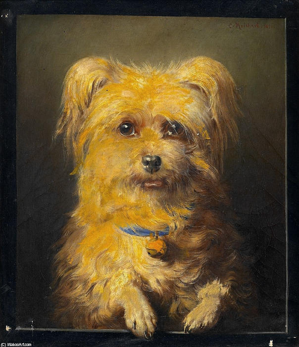 Order Oil Painting : Portrait of a Dog, 1871 by Carl Reichert (1836-1918, Germany) | WahooArt.com
