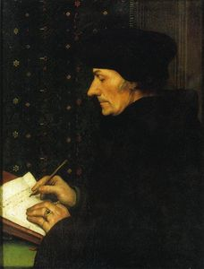 Hans Holbein The Younger - Portrait of Erasmus of Rotterdam Writing