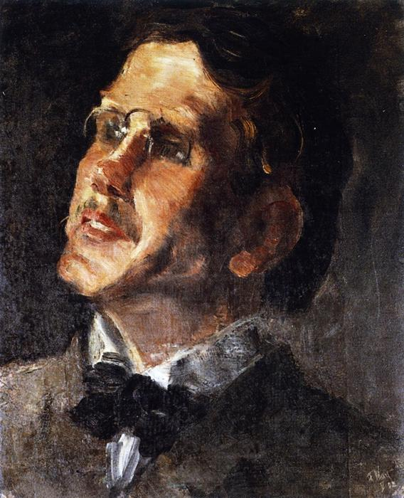 Portrait of a Friend, 1902 by Franz Marc (1880-1916, Germany) | Museum Quality Copies Franz Marc | WahooArt.com