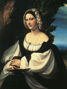Antonio Allegri Da Correggio - Portrait of a Gentlewoman