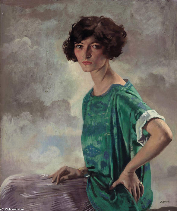 Portrait of Gertrude Sanford, 1922 by William Newenham Montague Orpen (1878-1931, Ireland)