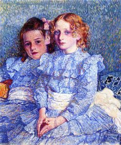 Theo Van Rysselberghe - Portrait of Helene and Michette Guinotte