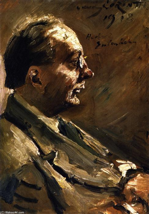 Portrait of Herbert Eulenberg, 1918 by Lovis Corinth (Franz Heinrich Louis) (1858-1925, Netherlands) | Museum Quality Reproductions | WahooArt.com
