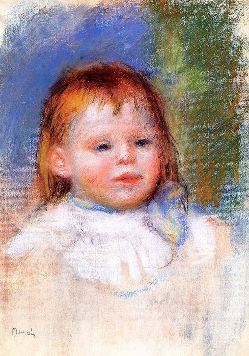 Portrait of Jean Renoir, 1895 by Pierre-Auguste Renoir (1841-1919, France) | Painting Copy | WahooArt.com
