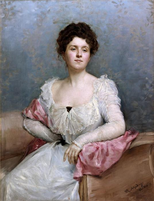 Portrait of a lady, 1899 by Raimundo De Madrazo Y Garreta (1841-1920, Italy) | Art Reproduction | WahooArt.com
