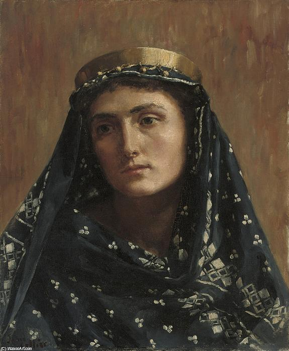 Portrait of a Lady in Eastern Dress by John Maler Collier (1850-1934, United Kingdom) | Museum Quality Copies John Maler Collier | WahooArt.com