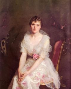 William Macgregor Paxton - Portrait of Louise Converse