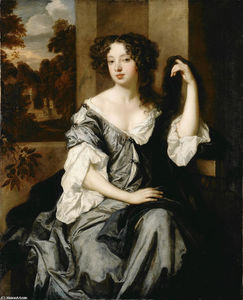 Pieter Van Der Faes (Peter Lely) - Portrait of Louise de Keroualle, Duchess of Portsmouth