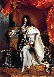 Hyacinthe Rigaud - Portrait of Louis XIV
