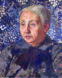 Theo Van Rysselberghe - Portrait of Madame Monnon, the Artist's Mother-in-Law