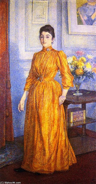 Portrait of Madame V.R., Oil On Canvas by Theo Van Rysselberghe (1862-1926, Belgium)