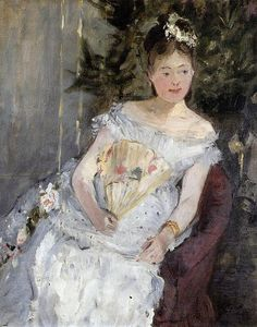 Berthe Morisot - Portrait of Marguerite Carre (also known as Young Girl in a Ball Gown)
