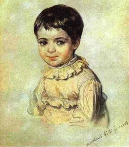 Karl Pavlovich Brulloff - Portrait of Maria Kikina as a Child