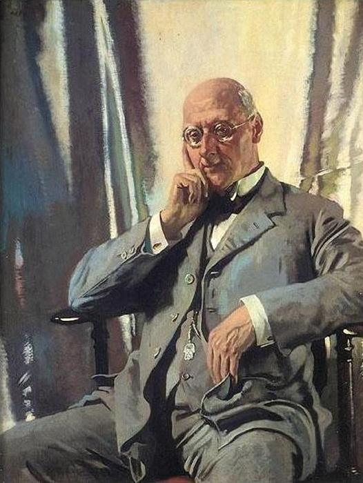 Portrait of Mr Francis Henry Edward Livesay by William Newenham Montague Orpen (1878-1931, Ireland) | Painting Copy | WahooArt.com