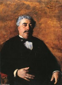 Order Museum Quality Reproductions : Portrait of M. Sidrot, 1881 by Émile Friant (1863-1932, France) | WahooArt.com