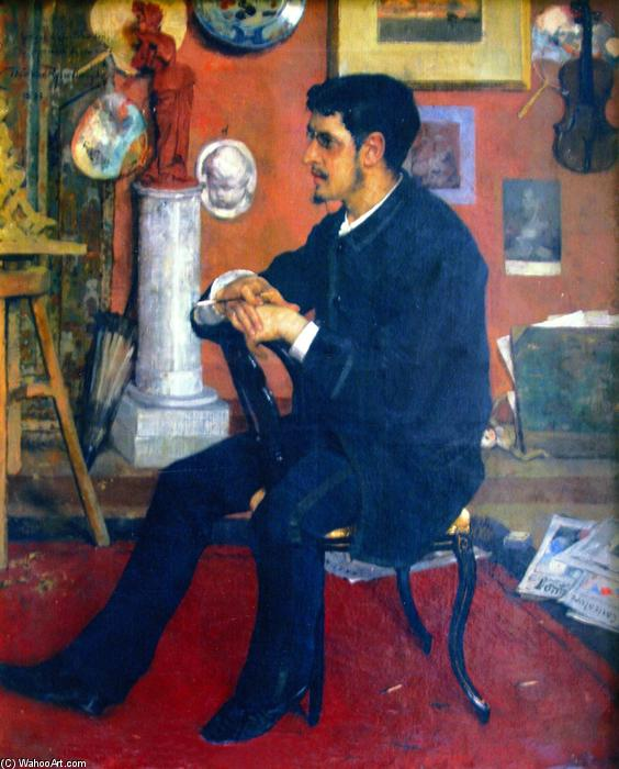Portrait of My Friend Georges (also known as Portrait de l'ami Georges), Oil On Canvas by Theo Van Rysselberghe (1862-1926, Belgium)