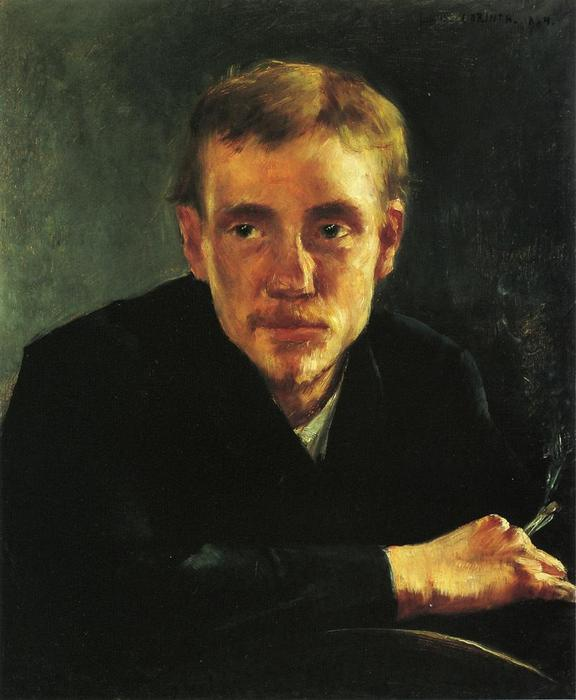 Portrait of the Painter, Painting by Lovis Corinth (Franz Heinrich Louis) (1858-1925, Netherlands)