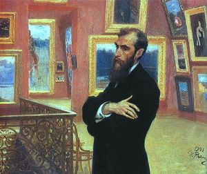 Ilya Yefimovich Repin - Portrait of Pavel Tretyakov, Founder of the Tretyakov Gallery.