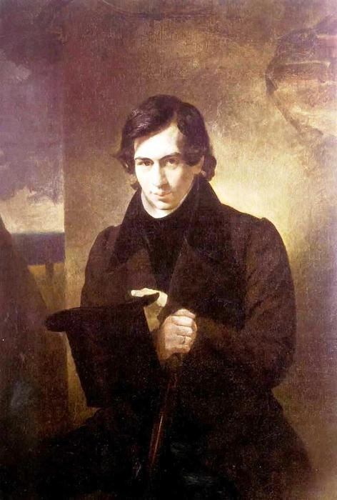 Portrait of the Poet and Playwrigh Nestor Kukolnic, 1836 by Karl Pavlovich Brulloff | Museum Quality Reproductions | WahooArt.com