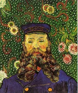 Vincent Van Gogh - Portrait of the Postman Joseph Roulin - (Famous paintings reproduction)