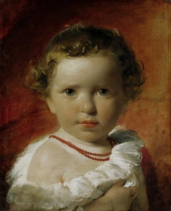 Portrait of Princess Caroline of Liechtenstein between the ages of one and a half years, 1837 by Friedrich Ritter Von Amerling (1803-1887)